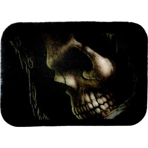 Grim Reaper Skull Close Up Profile Genuine Leather Patch