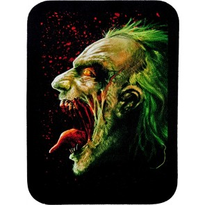 Decaying Bloody Scary Green Zombie Genuine Leather Patch