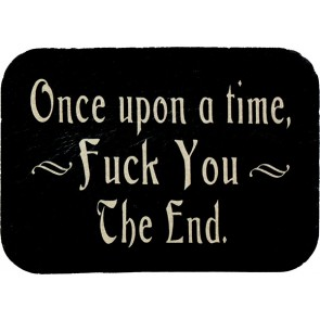 Black & White Once Upon A Time Fuck You The End Genuine Leather Patch