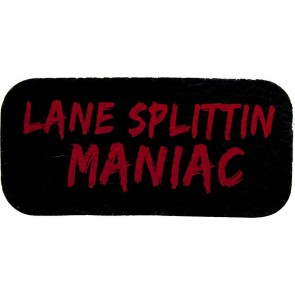 Black & Red Lane Splittin Maniac Genuine Leather Patch