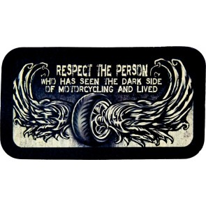 Respect The Person Who Has Seen the Dark Side Wings & Wheel Genuine Leather Patch