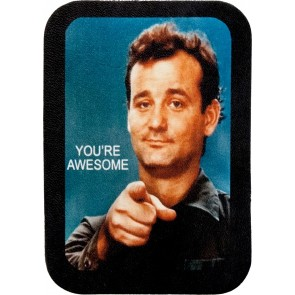 Blue & Black You're Awesome Bill Murray Genuine Leather Patch