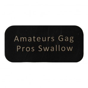 Black Amateurs Gag Pros Swallow Genuine Leather Patch