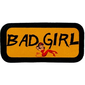 Orange Bad Girl Red Devil Costume Genuine Leather Patch