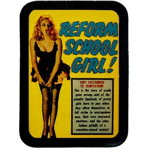 Reform School Girl Pin-Up Genuine Leather Patch