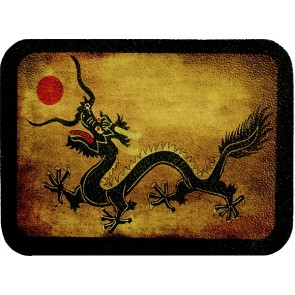 Chinese Dragon & Red Sun Genuine Leather Patch