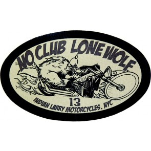 No Club Lone Wolf Riding Wolf Indian Larry Genuine Leather Sew On Patch