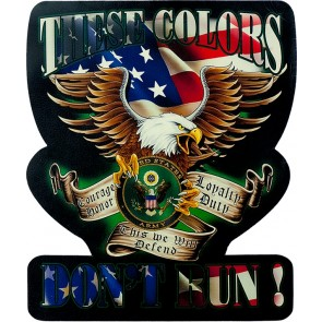 Red White & Blue These Colors Don't Run US Army Logo Eagle Genuine Leather Patch