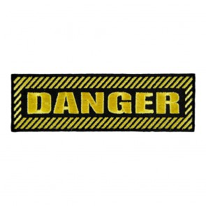 Danger Embroidered Patch