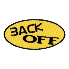 Back Off Yellow Embroidered Patch
