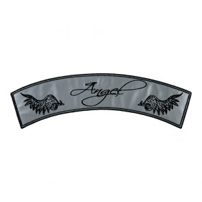 Embroidered Reflective Angel Rocker Patch