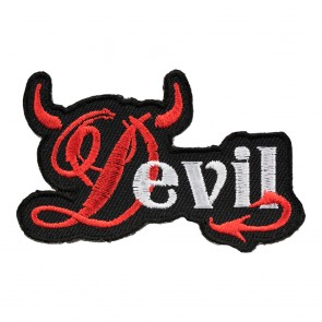 Embroidered Devil Red Horns & Tail Patch