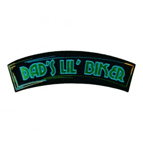 Dad's Lil' Biker Embroidered Sew On Rocker Patch