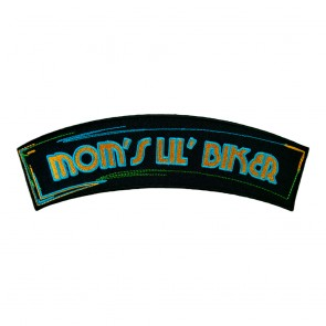 Mom's Lil' Biker Embroidered Sew On Rocker Patch