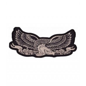 Gold Eagle Live To Ride Patch, Biker Eagle Patches