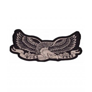 Gold Eagle Ride Free Patch, Biker Eagle Patches