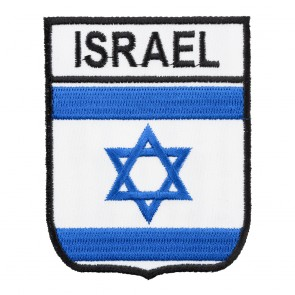 Embroidered Israel Flag Shield Patch