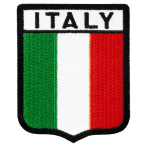 Italy Flag Shield Patch