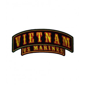 Vietnam U.S. Marines Rocker Patch, Military Patches