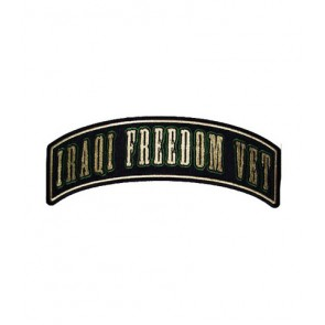Iraqi Freedom Vet Rocker Patch, Military Rocker Patches