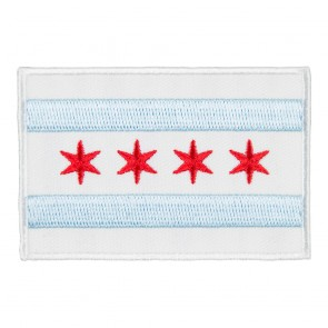 Embroidered Chicago Full Color Flag Patch