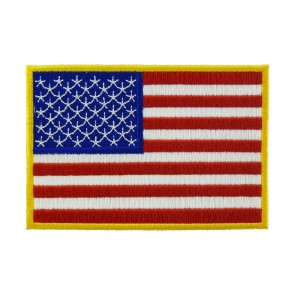 American Flag Yellow Border Patch, U.S. Flag Patches