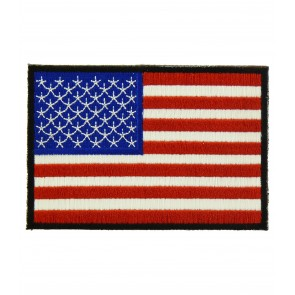 American Flag Black Border Patches, U.S. Flag Patches