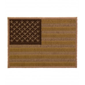 Embroidered American Flag Desert Tan Patch