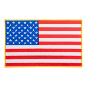 American Flag Yellow Border Iron On Patch