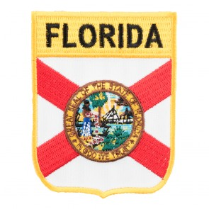 Florida State Flag Embroidered Shield Patch