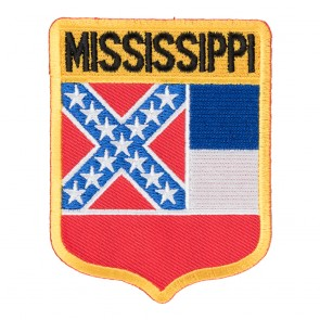Embroidered Mississippi State Flag Shield Patch