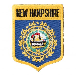 Embroidered New Hampshire State Flag Shield Patch