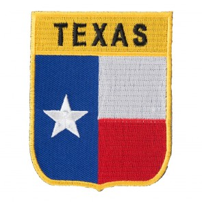 Embroidered Texas State Flag Shield Patch