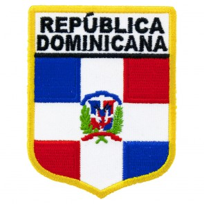 Republica Dominicana Flag Shield Embroidered Patch