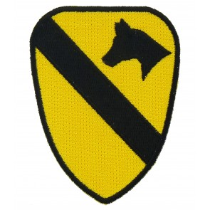 1st Calvary Division Shield Patch, Military Insignia Patches