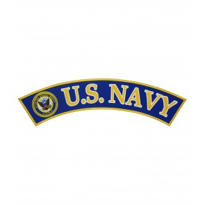 U.S. Navy Logo Rocker, Military Rocker Patches