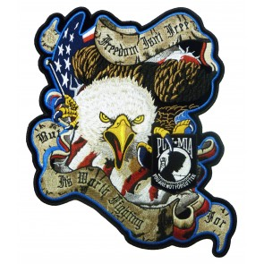 Freedom Isn't Free POW Eagle Patch, POW Back Patches