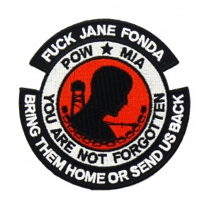 POW MIA Logo Jane Fonda Patch, POW MIA Patches