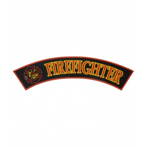 Firefighter Maltese Cross Rocker Patch, Firefighter Rockers