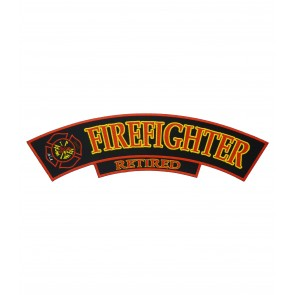 Firefighter Retired Rocker Patch, Firefighter Rocker Patches