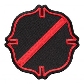 Fire Maltese Thin Red Line Embroidered Patch