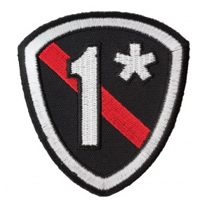 Embroidered 1* Thin Red Line Firefighter Shield Patch