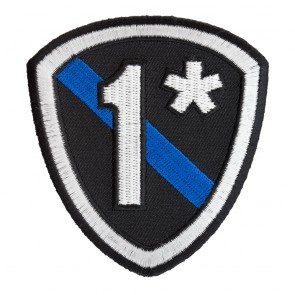 1 Asterisk Thin Blue Line Police Shield Patch