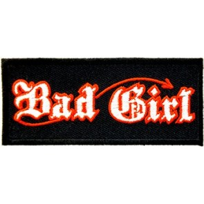 Bad Girl Old English Patch