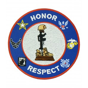 Honor & Respect Fallen Heroes Patch, Military Patches