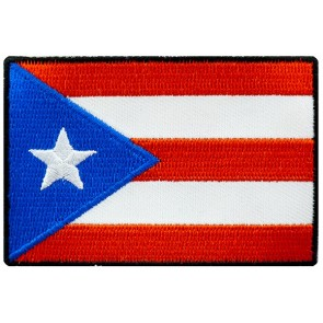 Puerto Rico Flag Patch, Puerto Rican Heritage Patches