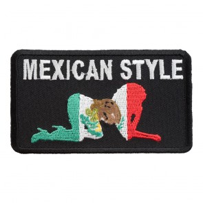 Embroidered Mexican Style All Fours Flag Patch