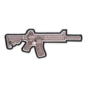 Grey Assault Rifle Iron On Patch