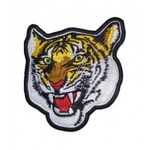 Yellow Tiger Head Patch, Bengal Tiger Patches