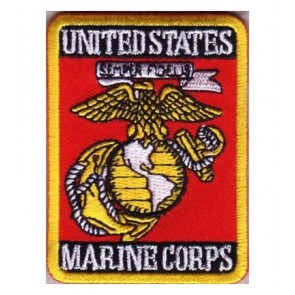 Marine Corps Red EGA Rectangle Patch, U.S. Marines Patches